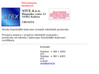Frontpage screenshot for site: Atex d.o.o. (http://www.atex.hr/)