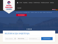 Frontpage screenshot for site: Hotel Central, Zagreb (http://www.hotel-central.hr/)