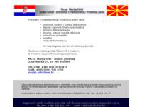 Frontpage screenshot for site: Sudski tumač za makedonski jezik - Marija Orlić (http://www.inet.hr/~marorlic/)