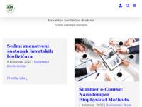 Slika naslovnice sjedišta: Hrvatsko biofizičko društvo (http://www.biofizika.hr)