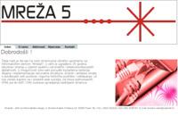 Frontpage screenshot for site: Mreža5, obrt za informatičke usluge (http://www.mreza5.hr)