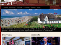 Frontpage screenshot for site: Art Travel (http://www.art-travel.hr/)