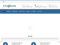 Frontpage screenshot for site: (https://www.studium-jezici.hr)