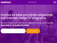 Slika naslovnice sjedišta: Kompare.hr – neovisni portal za usporedbu usluga (https://kompare.hr/)