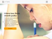 Frontpage screenshot for site: Littera (http://www.littera.hr)