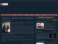 Frontpage screenshot for site: Inteco d.o.o. - Specijalni radovi u graditeljstvu (http://www.inteco.hr/)