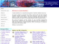 Frontpage screenshot for site: Croatia Maritime (http://www.croatia-seaman.com/)