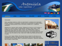 Frontpage screenshot for site: Sobe i apartman Antonijela (http://www.antonijela.com)