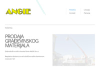 Frontpage screenshot for site: (http://www.angie.hr)