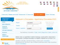 Frontpage screenshot for site: Katalog hrvatskih privatnih smještaja za češke turiste (http://www.ubytovanivchorvatsku.cz/)