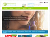 Slika naslovnice sjedišta: Alternativa može promjeniti vaš život (http://www.alternativa-za-vas.com)