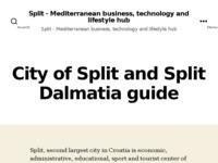 Frontpage screenshot for site: Grad Split Info (http://www.split.info)