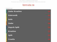 Frontpage screenshot for site: Korčula (http://www.korcula.ca/)