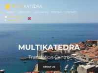 Frontpage screenshot for site: (http://www.multikatedra.hr/)