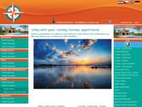 Frontpage screenshot for site: Lotos d.o.o. turistička agencija (http://www.lotos-croatia.com)