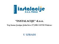 Slika naslovnice sjedišta: Instalacije d.o.o. (http://www.instalacije.hr)