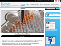Frontpage screenshot for site: Biomax d.o.o, Zagreb (http://www.biomax.hr)