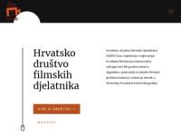 Slika naslovnice sjedišta: Hrvatsko društvo filmskih djelatnika (http://www.hdfd.hr/)