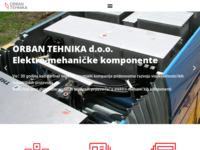Frontpage screenshot for site: Orban tehnika d.o.o. (http://www.orban-tehnika.hr/)