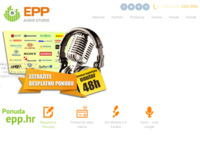 Frontpage screenshot for site: Epp - Izrada radijskih reklama (http://epp.hr)