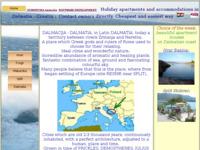 Frontpage screenshot for site: Ljeto u Hrvatskoj (http://www.dalmatica.com)