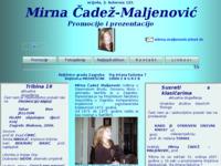 Frontpage screenshot for site: Mirna Čadež Maljenović: Promocije i prezentacije (http://www.inet.hr/~mmaljeno/index.html)