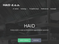 Frontpage screenshot for site: Haid d.o.o. (http://www.haid.hr)