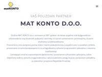 Slika naslovnice sjedišta: Mat Konto d.o.o. (http://www.matkonto.hr/)