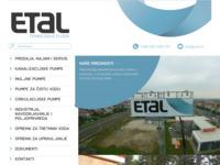 Frontpage screenshot for site: E.T.AL. d.o.o. (http://www.etal.hr)