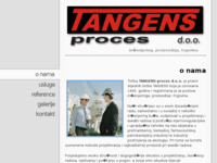 Frontpage screenshot for site: Industrijski inženjering, proizvodnja, trgovina (http://www.tangens.hr/)