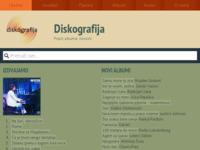 Frontpage screenshot for site: Diskografija hrvatskih glazbenih umjetnika (http://www.diskografija.com/)