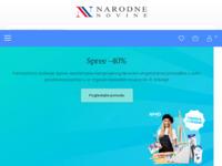 Frontpage screenshot for site: E-trgovina Narodnih novina d.d. (http://e-trgovina.nn.hr/)