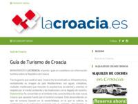 Frontpage screenshot for site: La Croacia (http://www.lacroacia.es)