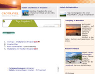 Slika naslovnice sjedišta: Planovi gradova (http://www.kroatien-links.de/stadtplan.htm)