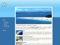 Frontpage screenshot for site: Bol Brač (http://www.bol-brac-croatia.net)