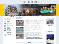 Frontpage screenshot for site: Villa Katarina Okrug Gornji Čiovo (http://www.villakatarina.hr)