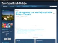 Slika naslovnice sjedišta: Zavičajni klub Brinje (http://www.zk-brinje.hr/)