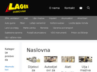 Slika naslovnice sjedišta: Lager d.o.o. autodijelovi (http://www.lager.hr)