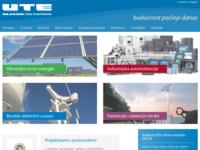 Slika naslovnice sjedišta: Uljanik Tesu Elektronika d.o.o. - Pula (http://www.ute.hr)