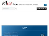 Frontpage screenshot for site: Miloc d.o.o. (http://miloc.hr/)