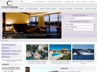 Slika naslovnice sjedišta: Ekskluzivna i luksuzna Hrvatska (http://www.luxurycroatia.com)