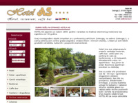 Frontpage screenshot for site: Hotel AS, Zagreb (http://www.hotel-as.hr/)