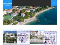 Frontpage screenshot for site: Podgora - lijepo dalmatinsko mjesto (http://www.podgora.biz)