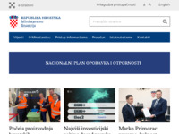 Frontpage screenshot for site: Ministarstvo financija Republike Hrvatske (http://www.mfin.hr/)