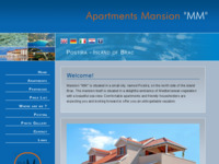 Frontpage screenshot for site: Apartmani Vila MM (http://www.apartments-postira.com/)