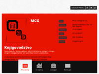 Frontpage screenshot for site: (http://www.mcg.hr)