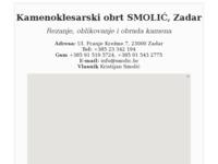 Slika naslovnice sjedišta: Klesarska radionica Smolić (http://www.smolic.hr/)