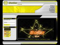Frontpage screenshot for site: BeGe films (http://bege.50webs.com)