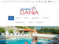 Frontpage screenshot for site: Apartmani Dania (http://www.dania.hr/)