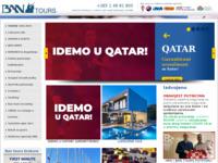 Frontpage screenshot for site: Bantours (http://www.bantours.hr/)